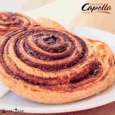 A tasty cinnamon roll flavor