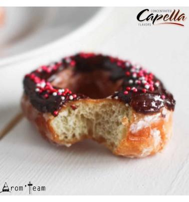 L'arôme d'un donut nappé de chocolat