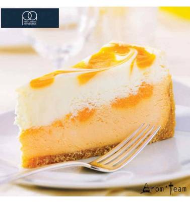 a sweet orange tart with vanilla cream