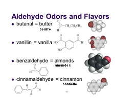 aldehyde in flavors